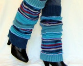 OOAK Handmade Leg Warmers  Made From Upcycled Sweaters Teal Aqua CHRISTMAS Gift or Stocking Stuffer Free Shipping Etsy