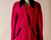 Red blood wool jacket