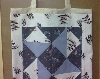 Tote bag with elements of patchwork.