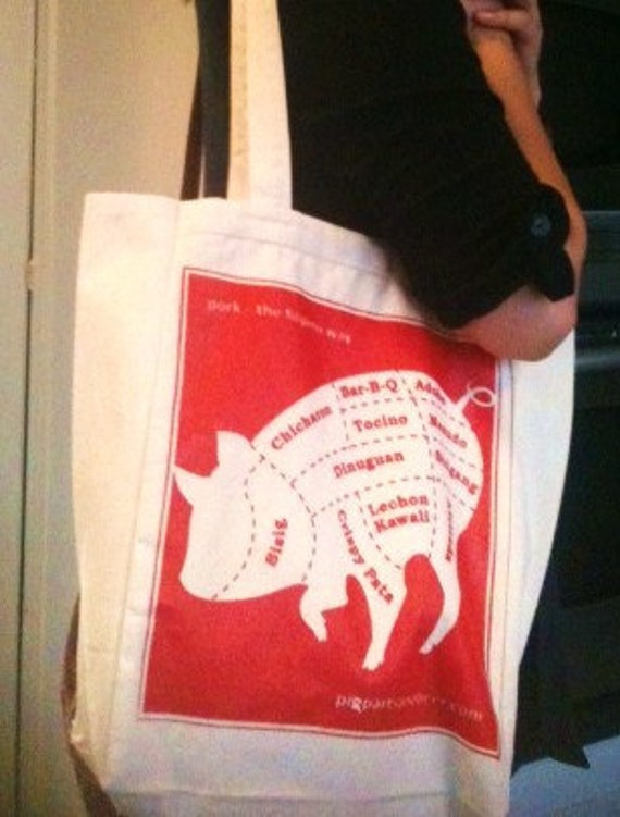 Pork the Filipino Way Graphic on Canvas Tote Bag
