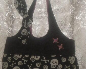 Skulls and cross bones small tote bag