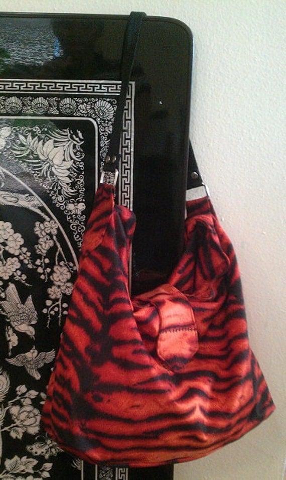 Animal print shoulder bag (Used)