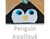 Crochet Pattern - Penguin Face Applique (for Hooded Baby Towel and So Much More) - Immediate PDF Download