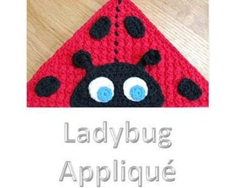 Crochet Pattern - Ladybug Applique (for Hooded Baby Towel and So Much More) - Immediate PDF Download
