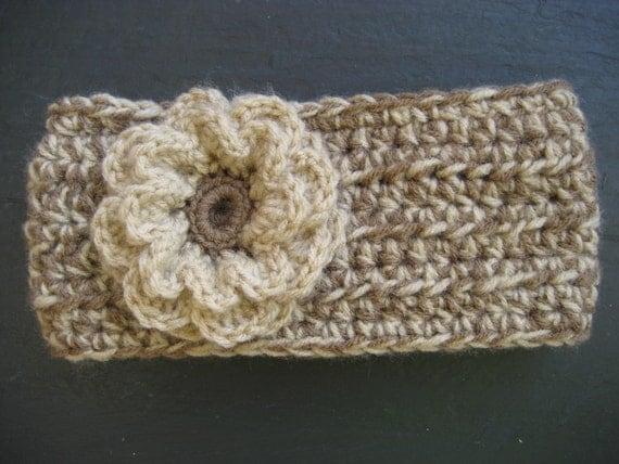 Crochet Pattern - Headband Ear Warmer with Flower (three ...