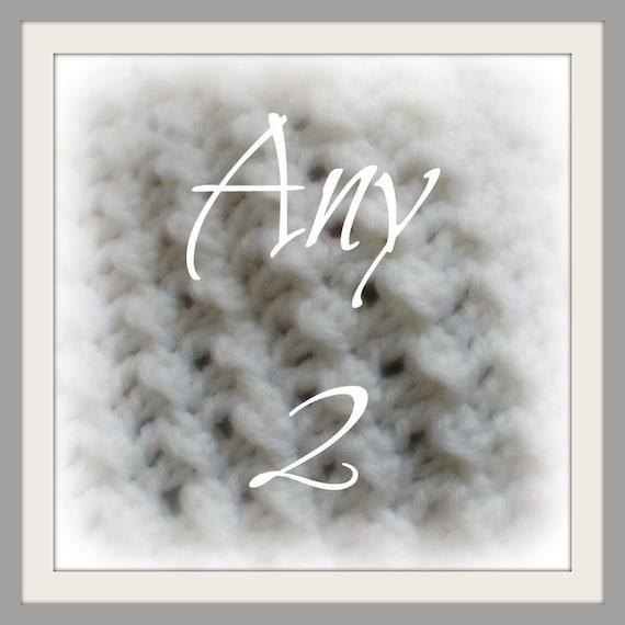 Crochet Pattern Sale - Choose Any 2 Patterns and Save Money