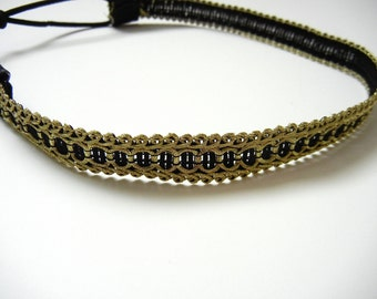 Black and Gold Headband