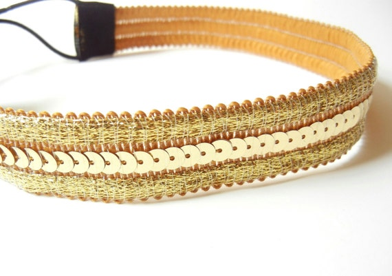 Gold Sequin Headband