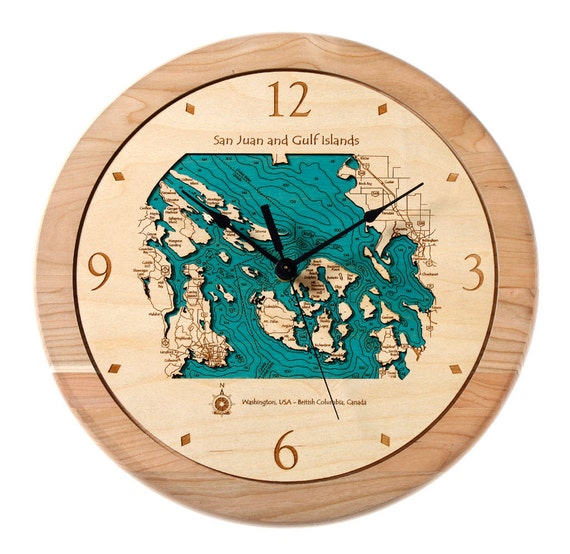 San Juan Islands Single-Level Clock