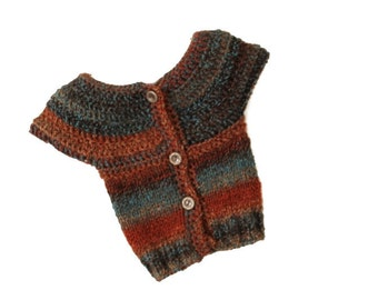 Pattern: Crochet and Knitted Sweater, Overcoat/Jacket SIzes-3Months to 3T
