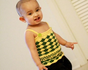 Pattern crochet Top/Dress summer fashion sleeveless shell stitch Easy Beginner Baby toddler newborn Dewdrops