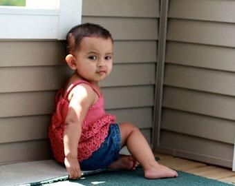 Pattern Crochet Fairy Shell Dress Top Newborn Baby Toddler Girls Summer Fashion Dewdrops No: 216
