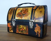 SALE Vintage Dome Top Lunch Box Collage
