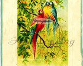 Early Australian greeting card for digital download - With all Good Wishes