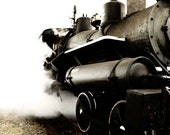 Industrial - Steam engine - train - black and white - 8x10photography for men