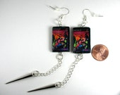 Playstation 2 Game Box Earrings PS2 Powerpuff Girls or Other Game