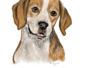 Beagle Original Art Print