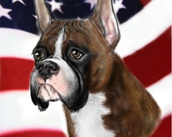 Boxer Patriotic Note Cards