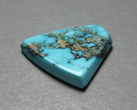 Rare Natural Turquoise Cabochon from the Prince Mine, Nevada