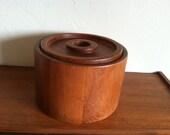 Vintage Dansk Teak Ice Bucket Danish Modern