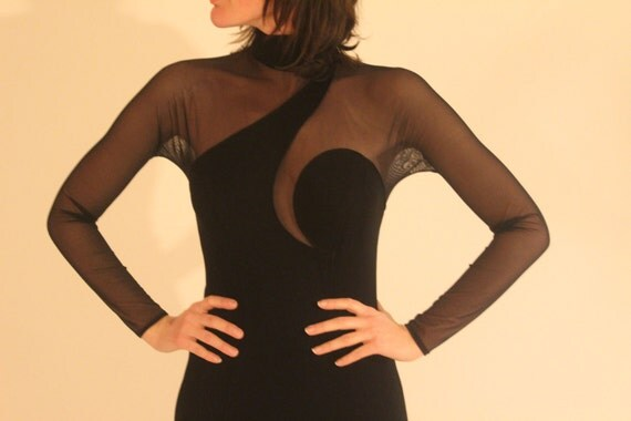 RESERVED Cache Body Con Mesh Maxi /// Free Shipping in the US