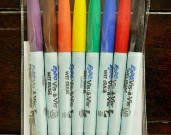 WET Erase Colored Expo Markers: Quantity 8