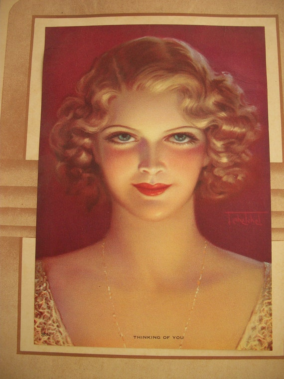 Vintage THINKING of YOU 1955 Hollywood Glam Calendar HAUNTINGLY Beautiful