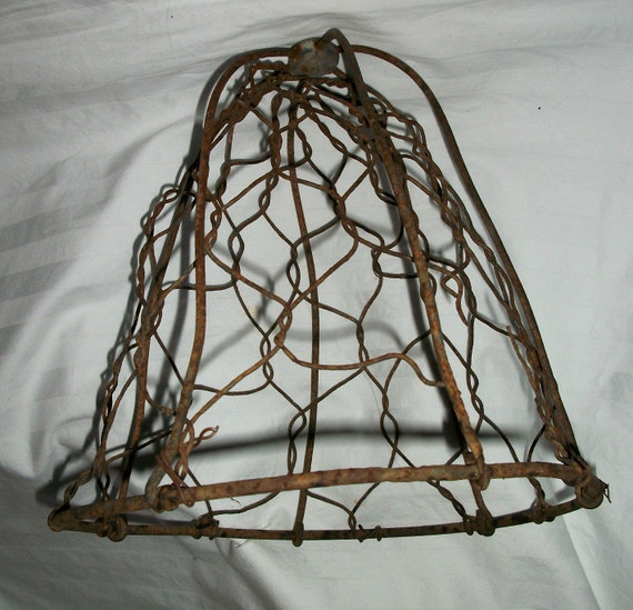 Antique Wire Garden Cloche Basket Primitive French Country