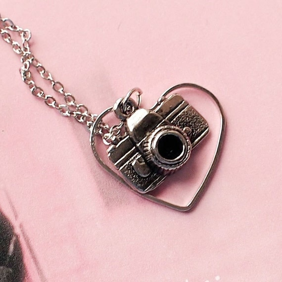 Love Photography Pendant Necklace Camera Necklace by petiteVanilla