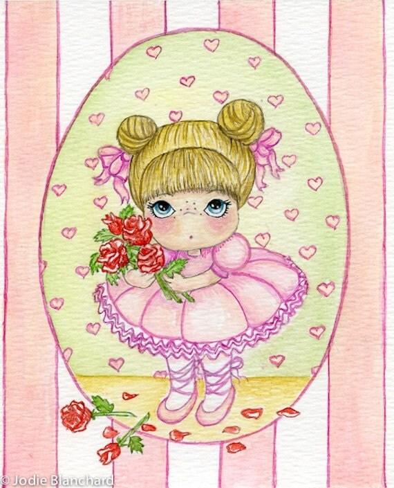 """Original Watercolour """"Ballerina Baby"""""""