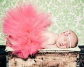Coral Tutu Newborn Tutu Set with Matching Crochet HeadbandNewborn Photography Prop Newborn-2T