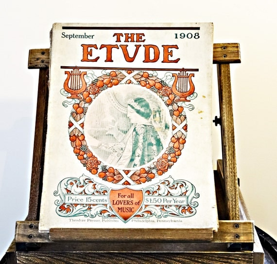 Antique Etude Magazines: 1908 - 1909 (Collection of 5) / Antique Sheet Music