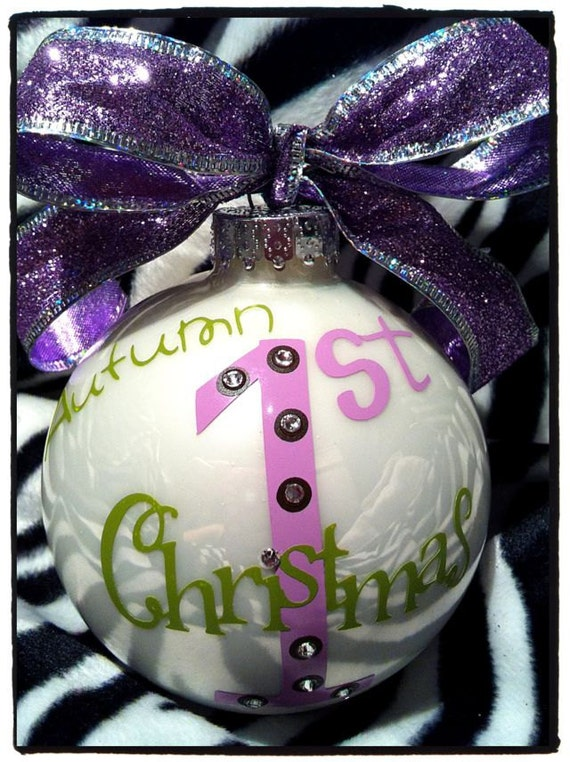 Baby's First Christmas Personalized Christmas Ornaments Made just for You with name
