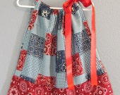Red Bandana Cowgirl Pillowcase Dress