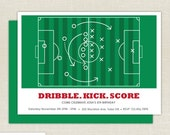 Soccer Invitation - Soccer Birthday - Birthday Invitation - Football invitation - Soccer Watch Party Invitation - DIY Printable Invitation
