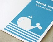 Whale Thank You Note - Whale Birthday Party - First Birthday - Printable Party - Babyshower - Invitation - Stationery - DIY Printable