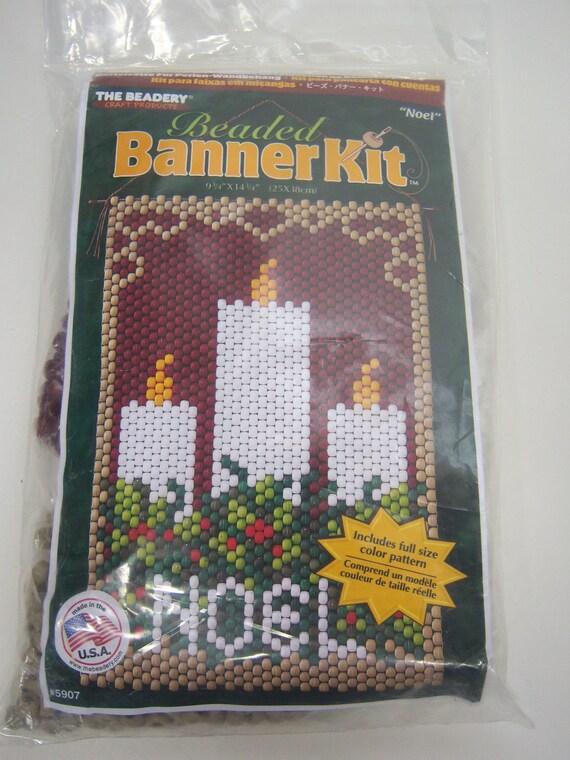 beaded banner kit noel candles display the beadery by krizba04