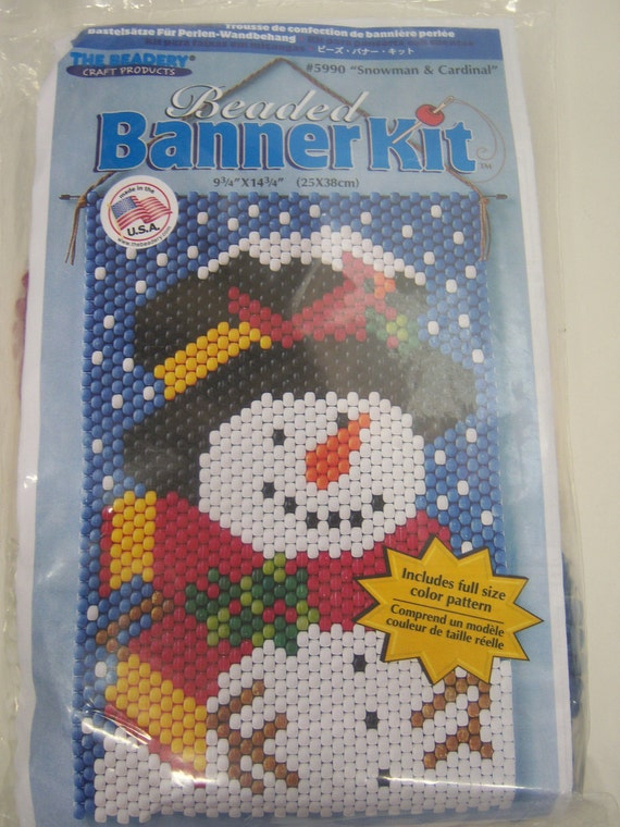 beaded banner kit snowman the beadery craft sealed by krizba04