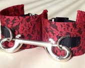 Bondage Cuffs - Handcuffs or Ankle Cuffs in Classic Red Lace, Adjustable