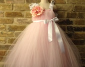 Pink and White Princess TuTu dress Toddler 2 to 5 years Flowergirl Pageant Party