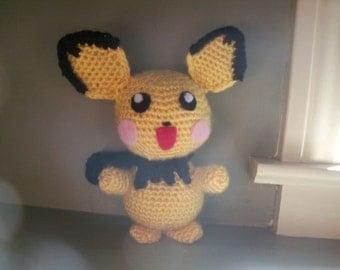 Crocheted Pichu