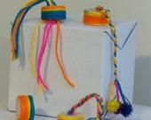 Bright Rainbow Nipsy Tambourines