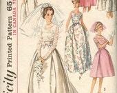 Vintage 1963 Simplicity Pattern 5343-Wedding Gown Pattern/Bridesmaid Pattern-Size 12