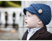 CROCHET PATTERN & Video Tutorial - Woolly Newsboy Beanie - 5 sizes: 0-3 mo, 3-6 mo, 6-12 mo, 12-24 mo, 2T-4T