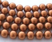 200 SWAROVSKI Crystal Pearl Beads 5810 3mm COPPER