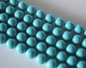 50 SWAROVSKI Crystal Pearl Beads 5810 6mm TURQUOISE