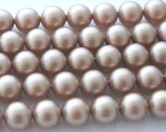 5 SWAROVSKI Crystal Pearl Beads 5810 12mm POWDER ALMOND