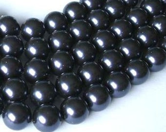 50 SWAROVSKI Crystal Pearl Beads 5810 6mm DARK PURPLE