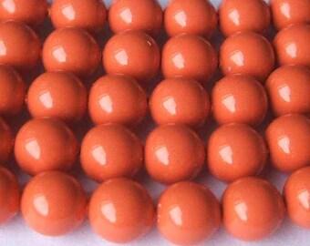 10 SWAROVSKI Crystal Pearl Beads 5810 10mm CORAL