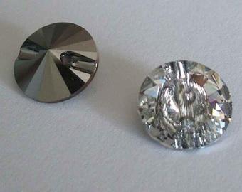 4 Swarovski 3015 Crystal Beads Button 12mm M-FOILED